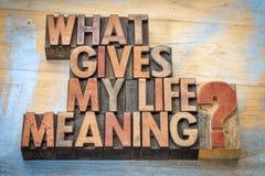 Que donne ma signification de la vie ? photos libres de droits