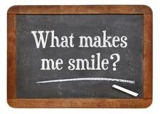 Que m'incite à sourire ? Image stock