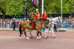 2016 que marcha la ceremonia del color durante el cumpleaños oficial del Sovereign Fotografía de archivo