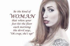 Que mulher - medo do ` s do diabo ilustração do vetor