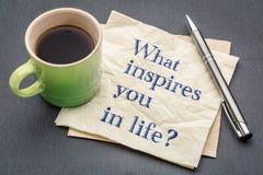 Que o inspira na vida? Imagens de Stock Royalty Free
