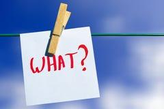 Que pergunta - curiosidade Imagens de Stock