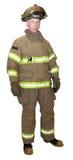 Que responde do salvamento da emergência do bombeiro primeiro isolado Imagem de Stock Royalty Free