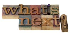 Que é seguinte? Imagens de Stock