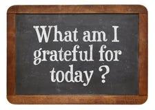 Que sou eu grato para hoje? Fotografia de Stock