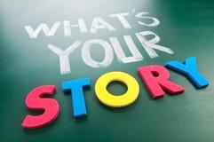 Que é sua história? Imagens de Stock Royalty Free