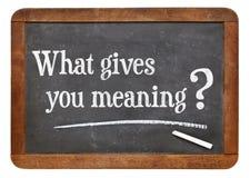 Que te donne la signification ? image stock