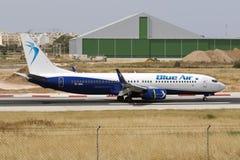 737 que tocam para baixo Foto de Stock