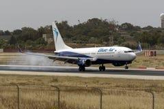 737 que tocam para baixo Imagem de Stock Royalty Free