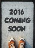 2016 que vêm logo Fotos de Stock