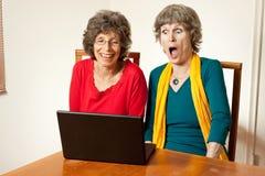 Que Web site chocante! Imagem de Stock