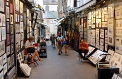 Quebec. View of the artiste place store Quebec Stock Photos