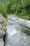 Quebec, Assemetquagant river in Matapedia in Gaspesie. Canada, Quebec, Assemetquagant river in Matapedia in Gaspesie Stock Image