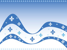 Quebec background. Vector illustration celebrating the Canadian province of Quebec, with the fleur-de-lys repeated in different sizes and shades Stock Images