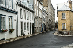 Quebec Backstreets Royalty Free Stock Image
