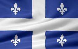 Quebec bandery Obrazy Royalty Free