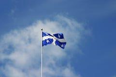 Quebec bandery obraz royalty free