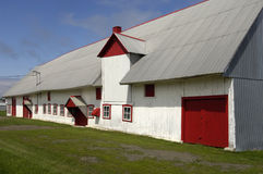 Quebec, a barn in Orleans Island Royalty Free Stock Images