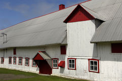 Quebec, a barn in Orleans Island Stock Photos