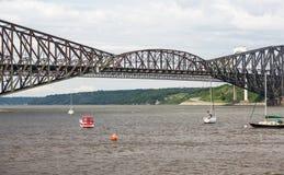 Quebec-Brücke - längste Auslegerbrücke in der Welt Stockbilder