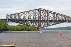 Quebec-Brücke - längste Auslegerbrücke in der Welt Lizenzfreie Stockbilder