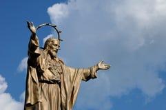 Quebec, bronze statue of Jesus in Saint Jean Stock Image