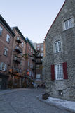 Quebec, Canada - February 03, 2016: Old Quebec city view, a UNES Royalty Free Stock Photography