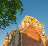 Quebec, Canada. Majesty of Hotel de Frontenac Royalty Free Stock Image