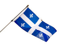 Quebec, Canada provincial Flag. The provincial flag of Quebec, Canada used from 1948 to present. Isolated on white Stock Photos