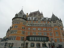 Quebec: the Castle Frontenac Stock Photography