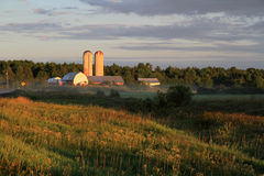 Quebec champaigne. Farm in the Quebec countryside Royalty Free Stock Photography