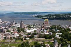 Quebec City Aerial View Stock Photo