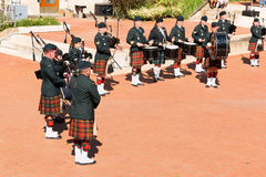 Gagetown pipes and drums band in Quebec City Stock Image