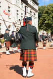 Gagetown pipes and drums band in Quebec City Stock Photos