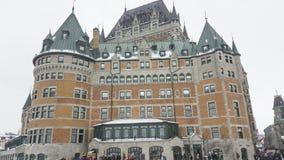 Quebec City, Canada Fairmont Le Chateau Frontenac facade. Stock Photos