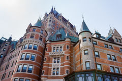 Quebec City Canada Hotel Chateau Frontenac Castle Stock Images