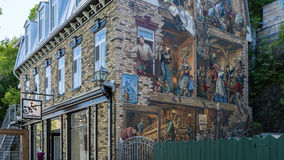 Quebec City, Canada, Mural on a building Stock Photo