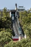 QUEBEC CITY, CANADA 13.09.217 Old Funicular links Upper Town Lower Town funicular railway UNESCO World Heritage Site Stock Images