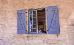 Quebec City, Canada, Street photography. Colorful window on the beautiful street royalty free stock photo