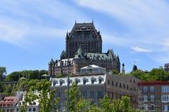 Quebec City Chateau Frontenac arkivfoton