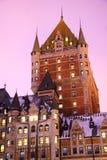 Quebec City, Chateau Frontenac. Quebec City most famous landmark, Chateau Frontenac stock images
