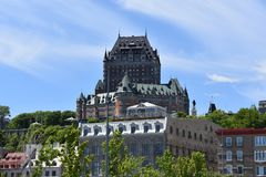 Quebec City Chateau Frontenac stock photos