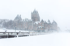 Quebec City Chateau Frontenac stock images