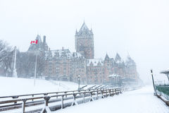 Quebec City Chateau Frontenac Royalty Free Stock Photography