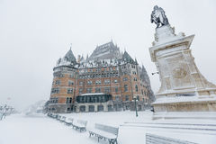 Quebec City Chateau Frontenac Stock Image
