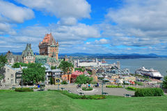 Quebec City cityscape Royalty Free Stock Image