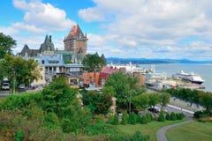 Quebec City cityscape Royalty Free Stock Photos