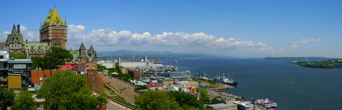 Quebec City e o St-Lawrence Imagens de Stock Royalty Free