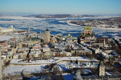 Quebec City en invierno imagen de archivo