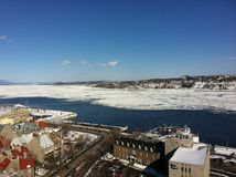 Quebec City Frozen River Royalty Free Stock Photo